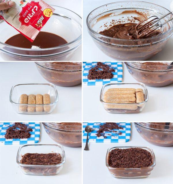 שלבי הכנת טירמיסו שוקולד